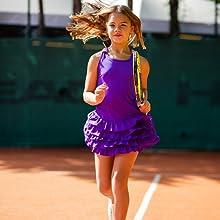 Purple Frills Tennis dress