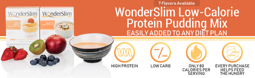 wonderslim low calorie protein pudding mix