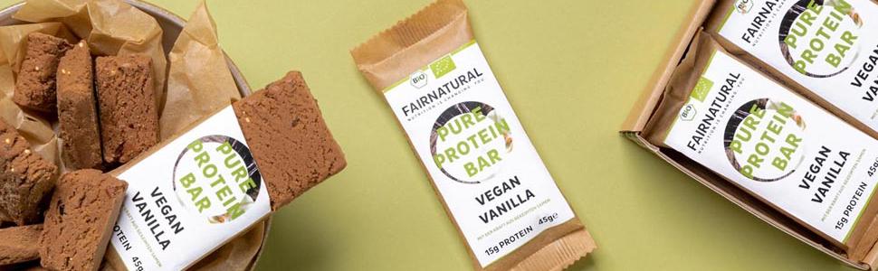 ORGANICA Barritas de proteína Vainilla Vegana [de Alemania] Barras de proteína vegetal sin soja, azúcar añadido o suero de leche con semillas ...