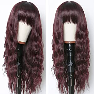 wigs with bangs 24 inches