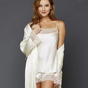 silk luxury pajamas lingerie bridal Christmas valentines
