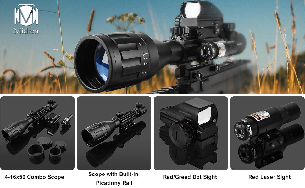4-16x50AOE illuminated tactical rifle scope for ar-15 air rifle scopes for hunting rifle scope