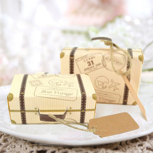 Mini Suitcase Favor Box