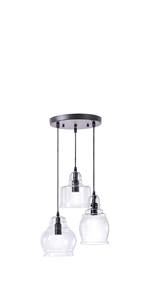 kitchen island glass pendant lighting fixture