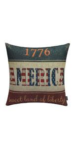 Trendin 1776 America Pillow Cover 18x18 inch