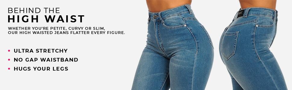 ultra high waist jeans by moda xpress