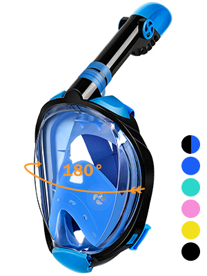 Newest full face snorkel mask large view