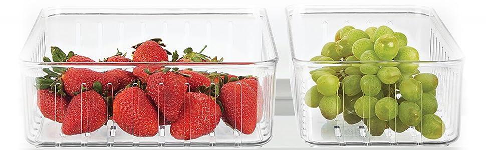 Les bacs de rangement pour réfrigérateur gardent votre espace organisé et la nourriture facile