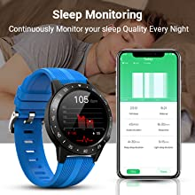 sleep monitor watch  Anmino Smart Watch (GPS +Barometer+Altimeter+Compass),Full HD Touchscreen,All-Day Heart Rate and Activity Fitness Tracker,Pedometer,Calorie Counter,Sleep Tracker,Bluetooth smartwatch 4790c71e f7b6 40f0 ae34 1c00c860164d