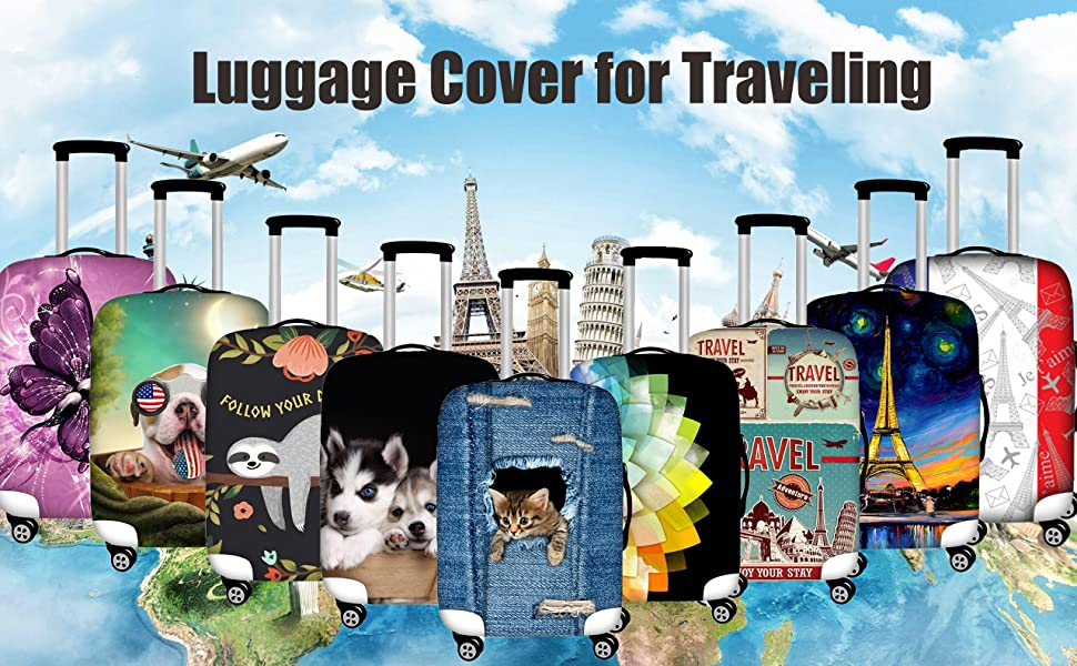 Luggage cover for traveling