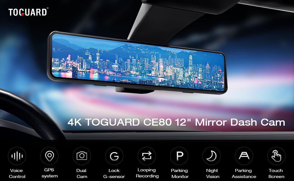 CE80 mirror dash cam for cars
