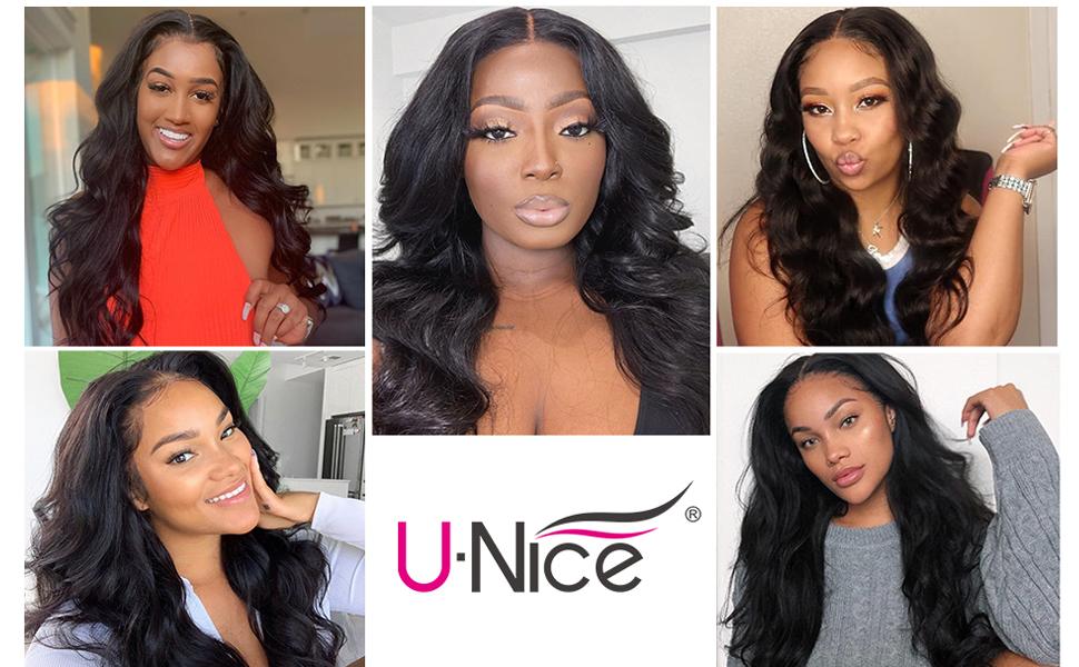 UNice Hair HD 5X5 Lace closure transparent lace closure human hair closure