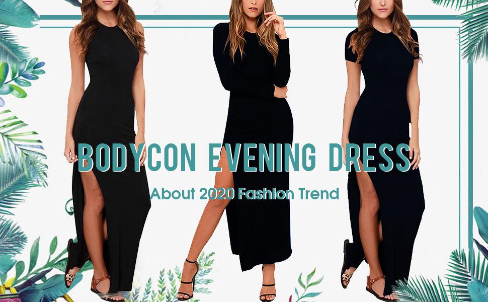 lasuiveur high slit maxi dresses for women