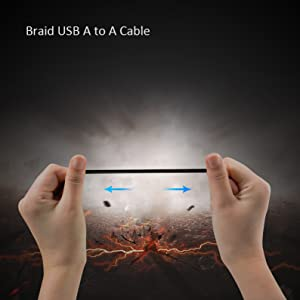 braid usb a to a cable aicheson aa3 laptop cooler