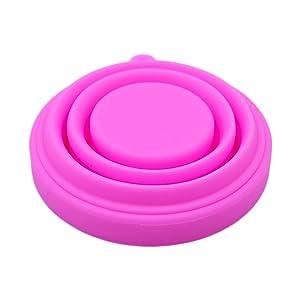 Soporte para limpieza de tazas menstruales, apto para la mayoría de vasos menstruales, esterilizador de microondas, soporte para brochas de ...