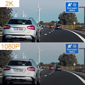 2K dashcam