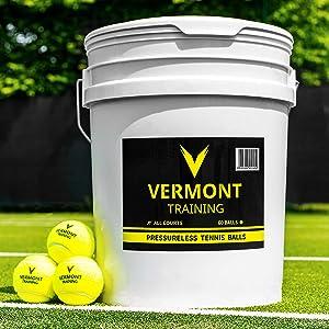 Vermont Pelotas de Tenis para Entrenamientos | Pelotas Sin Presión ...