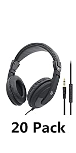 over ear headphone wired headset