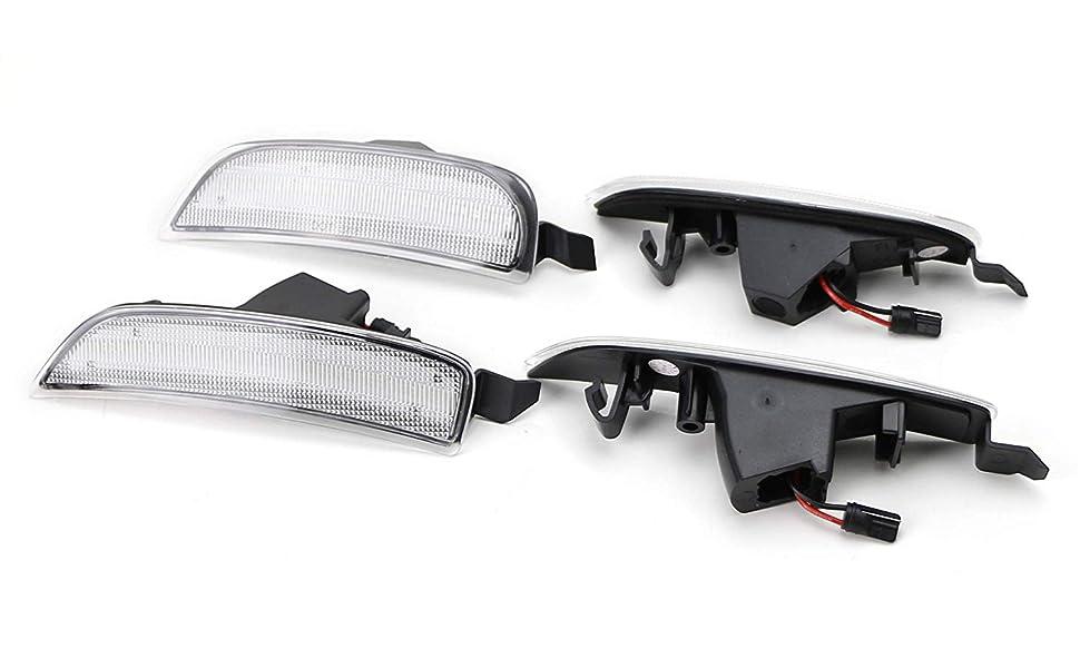 Clear Lens Amber/Red LED Side Marker Light 2016-up Mazda MX-5 Miata Replace OEM Sidemarker Lamps