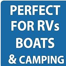 perfect for RVs boats hiking biking camping