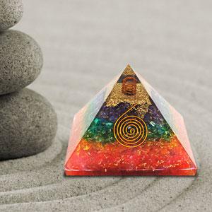 Orgone Pyramid Energy Healing Crystals Orgonite Pyramid for EMF Protection