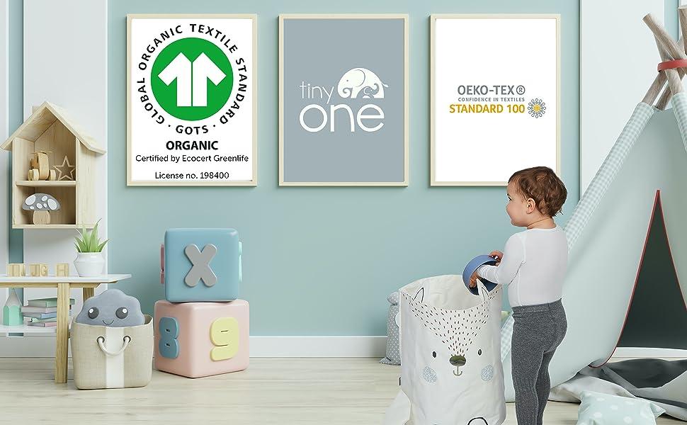 Zertifikt GOTS OEKO Öko getestet nachhaltig