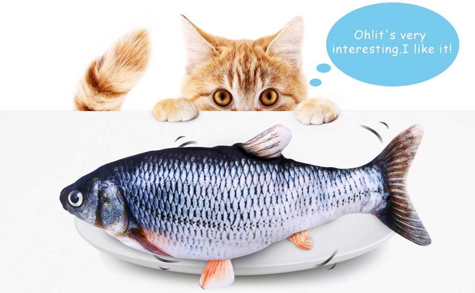 fish cat toy catnip kicker