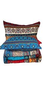 YOU SA 3Pcs Bohemian Comforter Set