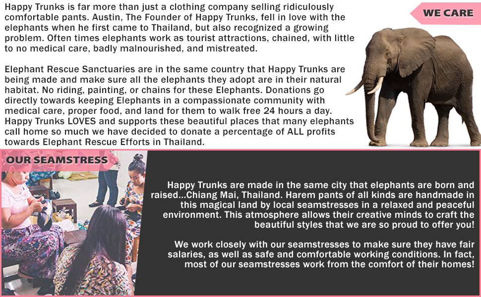 Harem Pants Bohemian Elephant Lounge Leggings Maternity Beach Pajama Yoga Womens Gift
