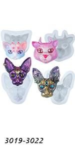 Cat Head Assortment Molds 4-count