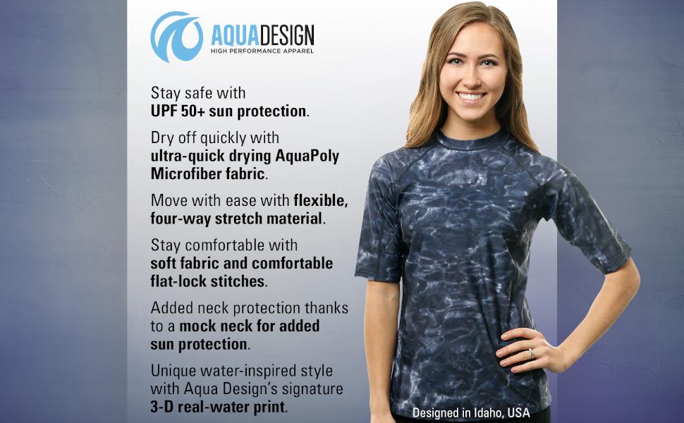 women swim rashguard shirt protection plus sun upf uva guard short sleeve swimsuit athletic  workout