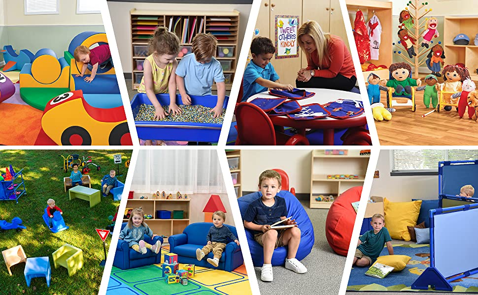 climber; Soft play equipment; Sensory table; Kids bean bag chair; Toddler chair; Daycare furniture