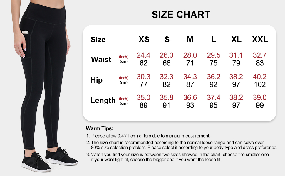 Gym leggings Women with Pockets 2 Pack Yoga Pants for Running Sports Workout Fitness Non See-through