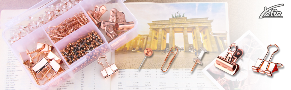 rose gold office supplies sets
