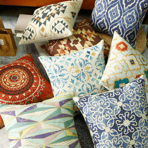 LINKWELL Tribal Decorateive Pillow Cover 18x18