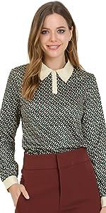 Geometric Button Shirt