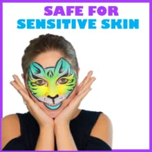 safe hypoalergenic FDA compliant perfume gluten paraben free vegan face and body paint for kids