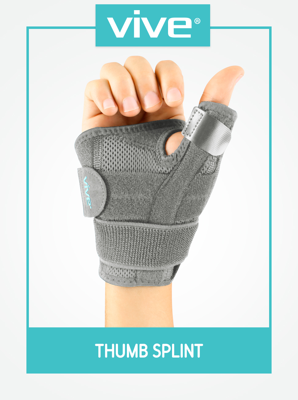 Carpal Tunnel amp; Trigger Thumb Immobilizer - Wrist Strap - Left or Right Hand (Beige