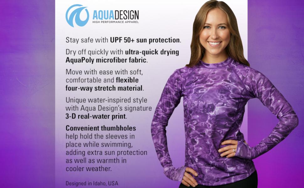 women swim rashguard shirt uv protection s adult sun  guard aqua long sleeve swimsuit  sport workout