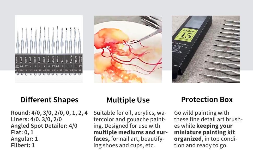 detail paintbrushes