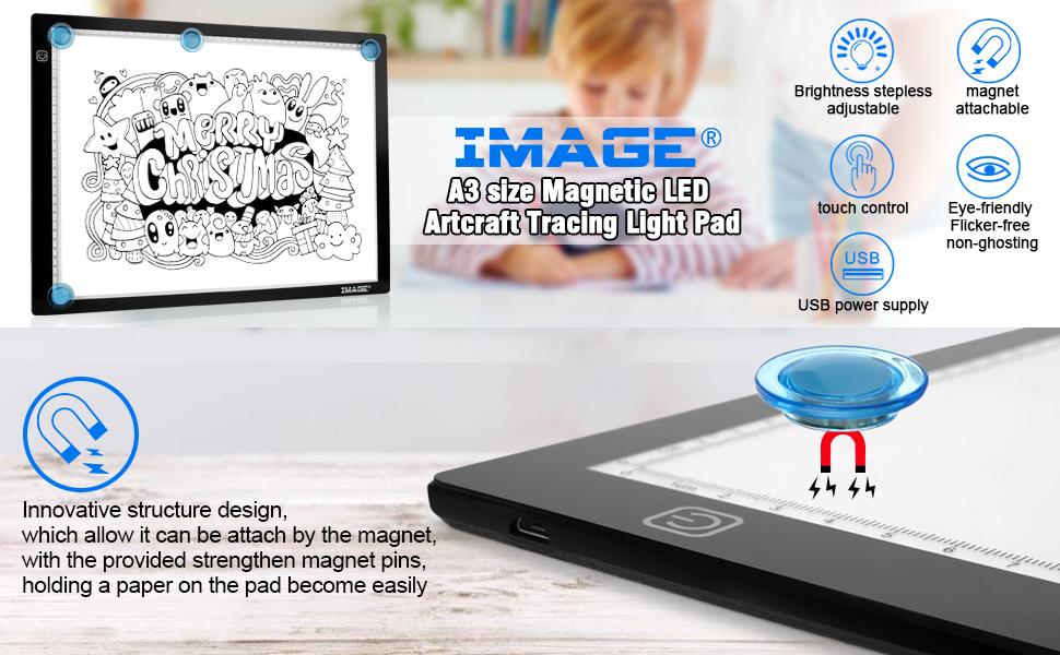 A3 magnetic led artcraft tracing light pad a3 light box a3 light board