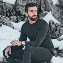 merino wool's odor-resistant properties keep you dry and comfortable while active in cold weather