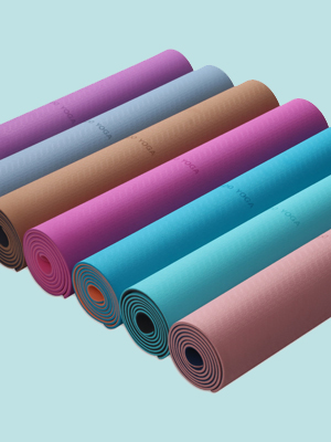 WWWW PIDO TPE Yoga Mat ECO Friendly Non Slip Yoga Mats with Carrying Strap,72