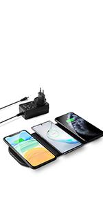 zealsound 3x10W Qi Triple Wireless Ladestation: