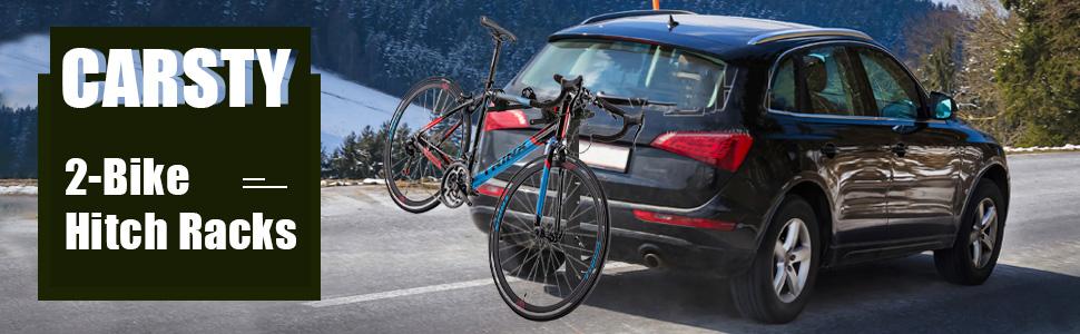CARSTY 2-Bike Hitch Racks