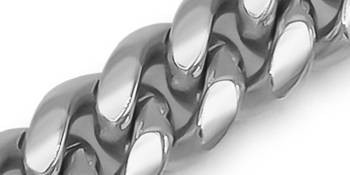 Miami Cuban Link Chain Bracelet Stainless Steel Fashion Jewelry For Men Silver Plated Box Clasp