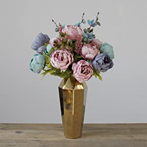 artificial blue peony flowers arrangements