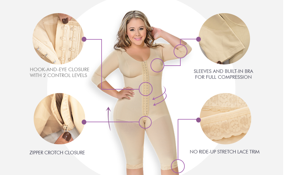 M&D 0161 Fajas Colombianas Reductoras Postparto Post Surgery Compression Garment