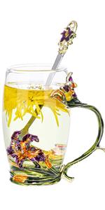 Iris glass cup