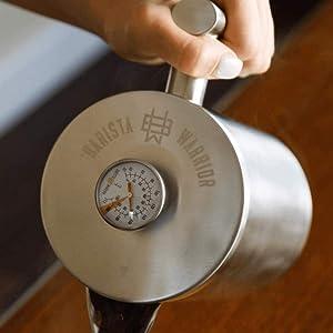 termómetro fácil de usar hervidor de cobre integrado perfecto taza de café café cafeterías cafetería